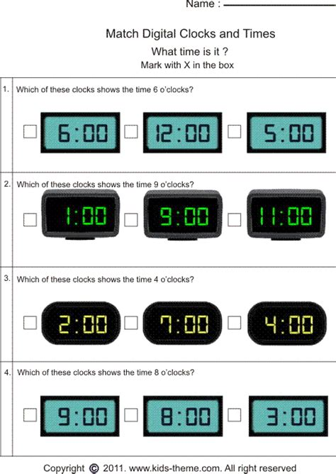 Matching Time With Analog Or Digital Clock  Ideas For School  Pinterest  Classroom, Clock