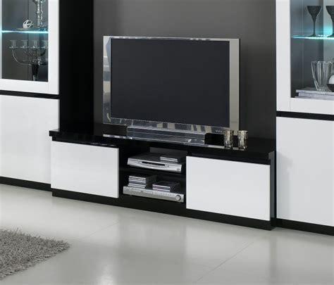 meuble tv design laqu 233 blanc noir krista meuble tv laqu 233 meuble tv hifi salon