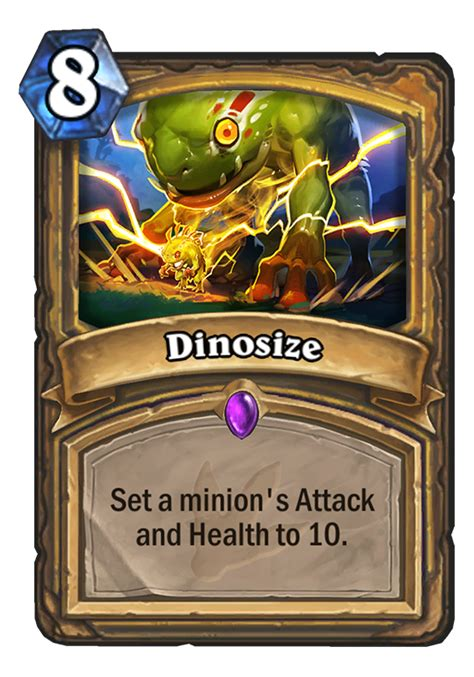 dinosize hearthstone card