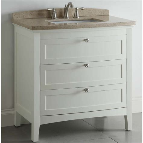 shop allen roth windleton 36 in x 22 in white single sink bathroom vanity with marble