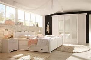 Schlafzimmer Set Massivholz : dreams4home schlafzimmer set dreamy 5trg kleiderschrank bett 180 x 200 cm 2 x nachtkonsole ~ Markanthonyermac.com Haus und Dekorationen