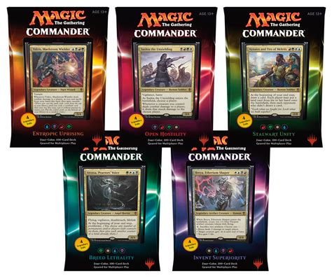 Mtg Modern Decks Tier 1 by 2016 Mtg Commander Decks Set Of 5 Magic Products