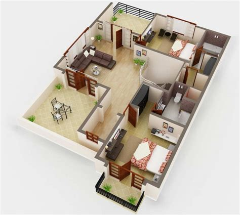 tiny house floor plans small residential unit 3d floor 3d floor plan rendering house plan service company netgains