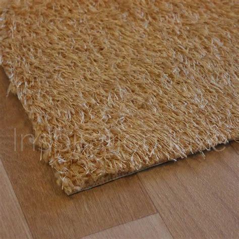 tapis marron clair de cuisine lavable en machine