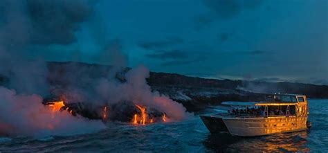 Lava Boat Tour Hawaii by Big Island Lava Tours Hawaii Waterfall Tours Lava
