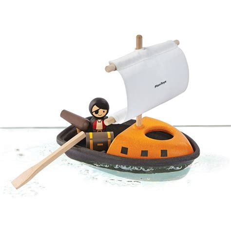 Pirate Boat Toy by Plan Toys Pirate Boat Bath Toy