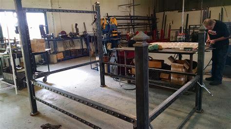 steel bed frame americoat powdercoating