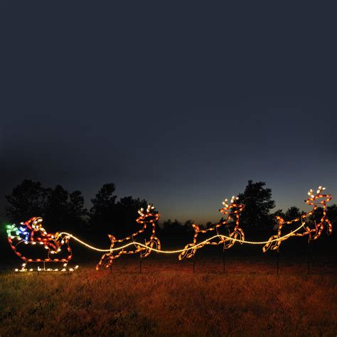 Santa Sleigh Outdoor Decoration by Shop Holiday Lighting Specialists 4 75 Ft Santa Sleigh