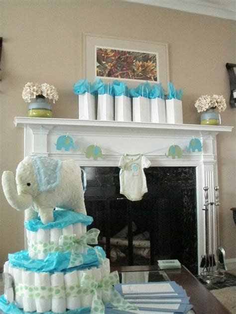 blue and green elephant baby shower decorations elephant baby shower ideas white