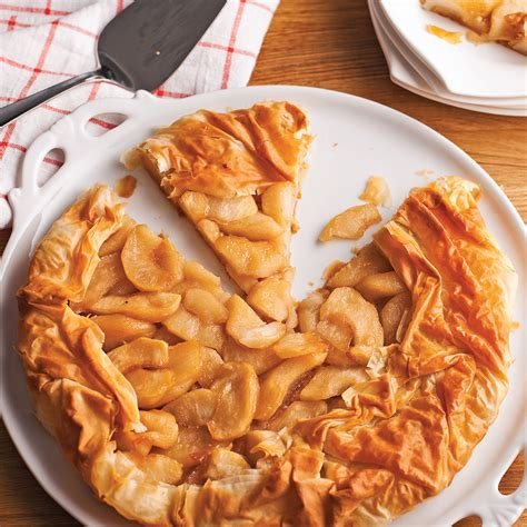 tarte aux pommes et sirop d 233 rable en p 226 te phyllo recettes cuisine et nutrition pratico
