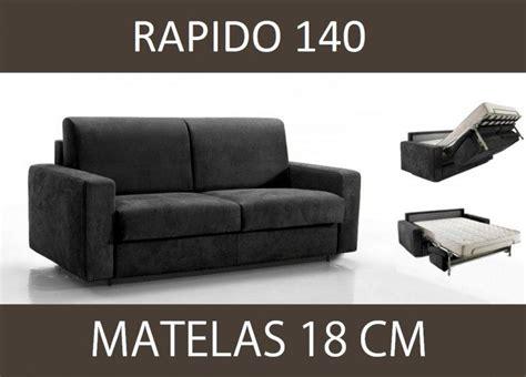 canape lit 3 places master convertible ouverture rapido 140 cm microfibre matelas 18 cm