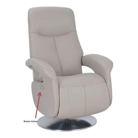 fauteuil cuir munich relaxation electrique espace du sommeil