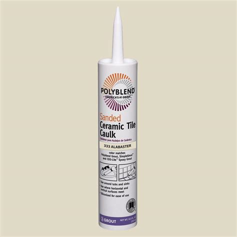 custom building products polyblend 333 alabaster 10 5 oz