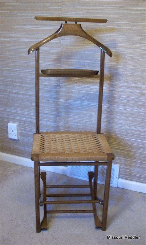 vintage s valet butler chair folding wood chair wicker rattan woven seat vintage chairs