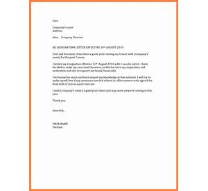 54 Professional Resignation Letter Sample With 2 Month Notice