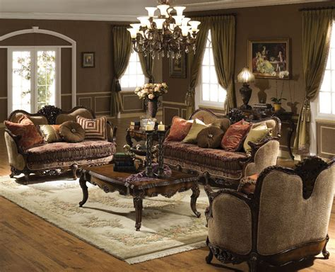 3pc cassiopeia antique walnut traditional living room seating set ebay