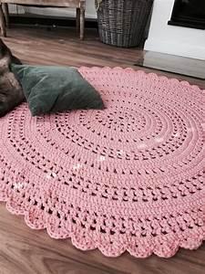 Runder Teppich Wolle : rosa wolke h kelteppich 1 40m eigenkreationen pinterest h keln handarbeit und stricken ~ Markanthonyermac.com Haus und Dekorationen