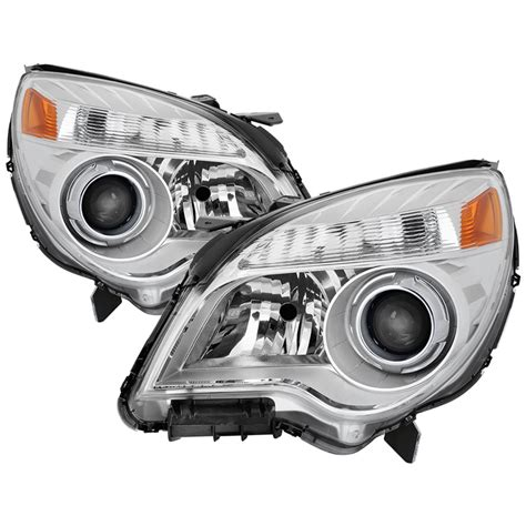 10 13 chevy equinox ltz halogen only wont fit ls lt and hid models oem style headlights chrome