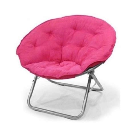 folding saucer chair room gamer pink purple black