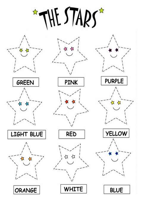 Kids Page Color The Stars Worksheets  Printable Coloring Worksheets