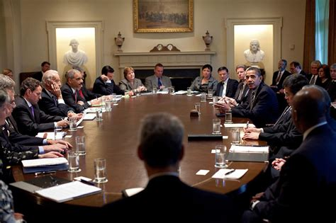 file president barack obama meets with members of his cabinet in the cabinet room at the white