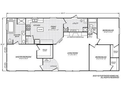 Fleetwood Mobile Homes Floor Plans Eagle 28563x Fleetwood Homes