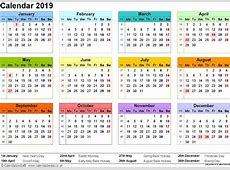 Yearly Printable Calendar 2019 With Chinese Holidays PDF