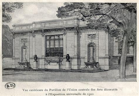 inv 9148 vue de l ext 233 rieur du pavillon de l union centrale des arts d 233 coratifs 224 l exposition