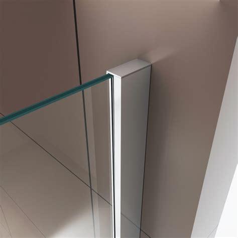 paroi fixe et porte battante de ex416 2 6mm verre transparent nano 120x90x195cm le