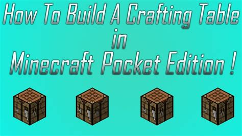 How To Make A Boat In Minecraft Ipad by How To Make A Crafting Table In Minecraft Pe On Ipad