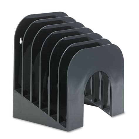 six tier jumbo incline sorter plastic 9 3 8 x 10 1 2 x 7 3 8 black webofficemart