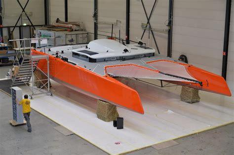 Gunboat Foiling Catamaran by The Gunboat G4 Is A Fully Foiling Tesla Swizzle Media