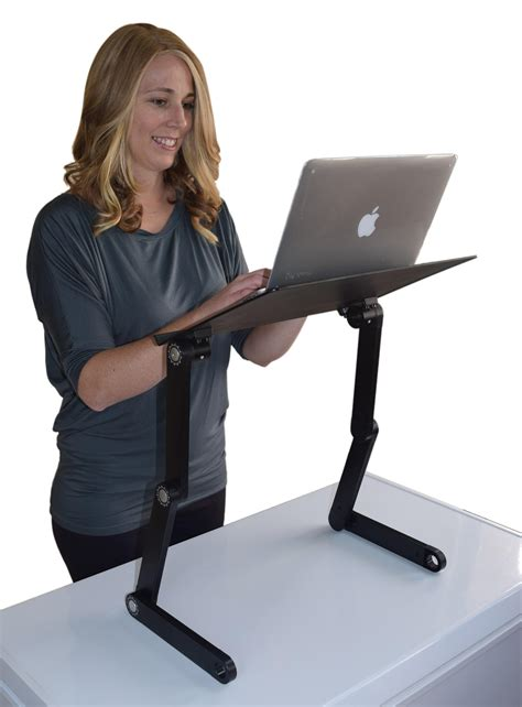 uncaged ergonomics workez professional notebook computer riser foldable desk for bed and