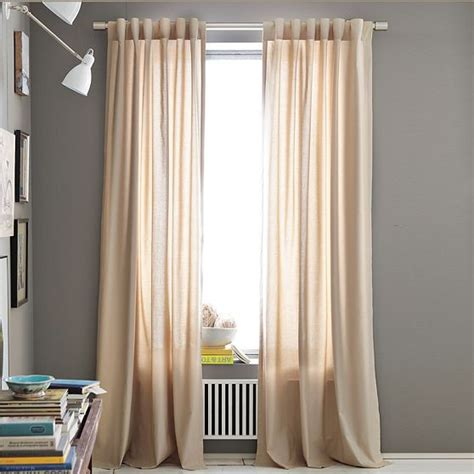 cotton canvas window panel modern curtains by west elm