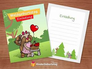 Einladung Kindergeburtstag Wald : einladung waldgeburtstag basteln vorlagen zum ausdrucken und ideen f r die waldparty ~ Markanthonyermac.com Haus und Dekorationen