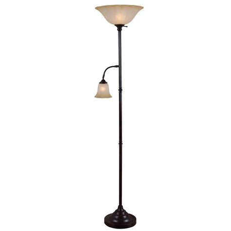 kenroy home matrielle 72 in 3 light rubbed bronze torchiere 21377orb the home depot