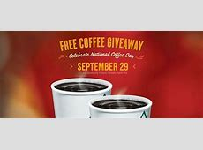 September 29th is National Coffee Day = Score FREE Coffee