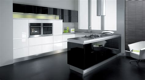 Black And White Kitchen With Retro Theme  Nixgearcom