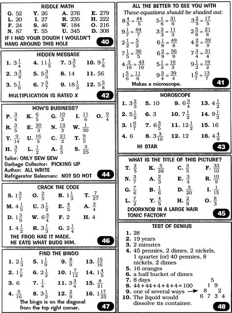 18 Best Images Of Bridge To Algebra Worksheet Answers  Marcy Mathworks Worksheet Answers, Punch