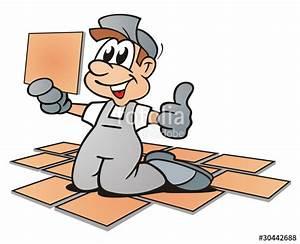 Bilder Hausbau Comic : floor tiler stockfotos und lizenzfreie bilder auf bild 30442688 ~ Markanthonyermac.com Haus und Dekorationen
