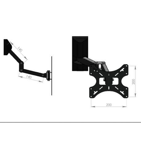 tv wall mount support television 26 bfsat