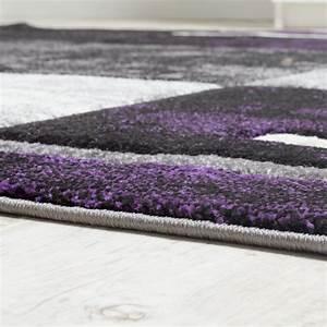 Teppich Läufer Lila : bettumrandung teppich marmor optik karo lila grau creme l uferset 3 tlg teppiche bettumrandungen ~ Markanthonyermac.com Haus und Dekorationen