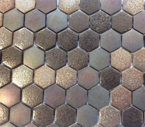 bien carrelage emaux de briare 14 mosa239que p226te de verre hexagone brun cuivre plaque