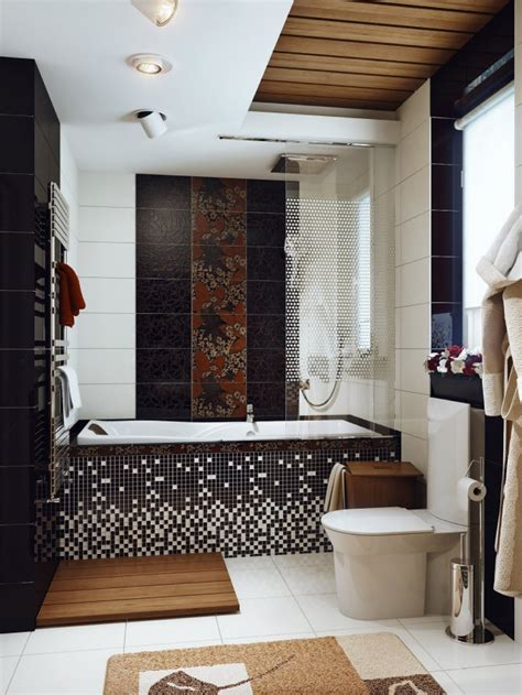 black white brown bathroom interior design ideas