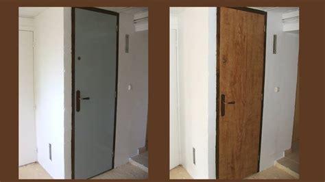 peindre une porte en faux bois fa 231 on noyer