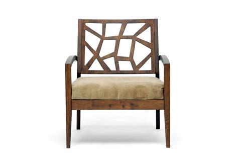baxton studio wooden modern lounge chair w