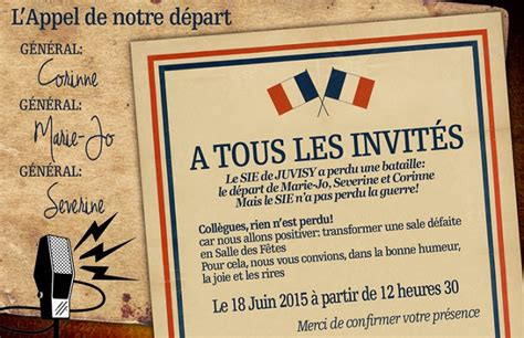 invitation pot de depart demandes de montage photo