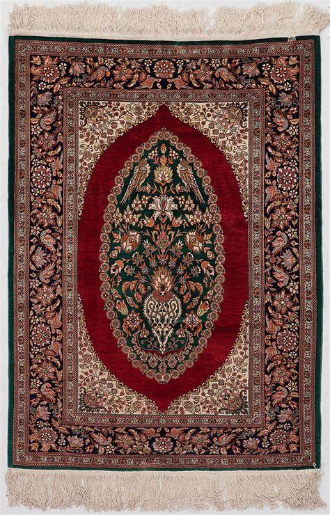 tapis de priere en soie chine dernier tiers du xxe s orn