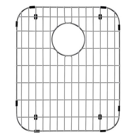 vigo 14 in x 17 125 in kitchen sink bottom grid in