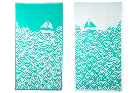 Boat Beach Towels by Pinterest
